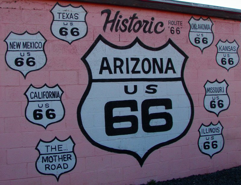Route 66 Arizona to New Mexico