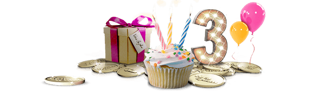 Vera John Casino 33 free spins! Happy Anniversary Celebrations!