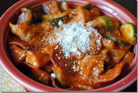 chicken veggies marinara