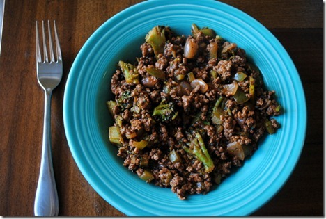 ground beef with veggies