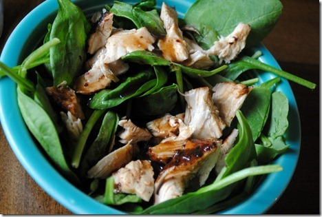 asian chicken spinach salad 019
