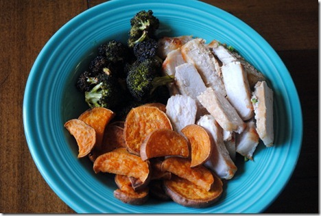 pork broccoli sweet potatoes