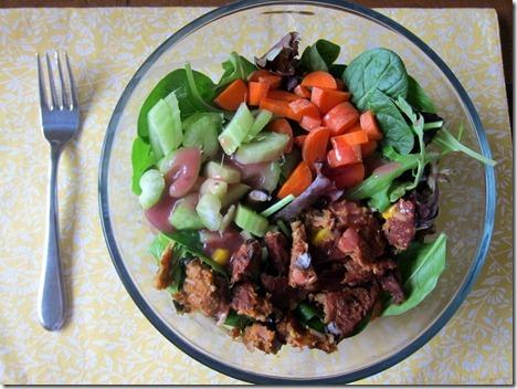 Black Bean Burger Salad
