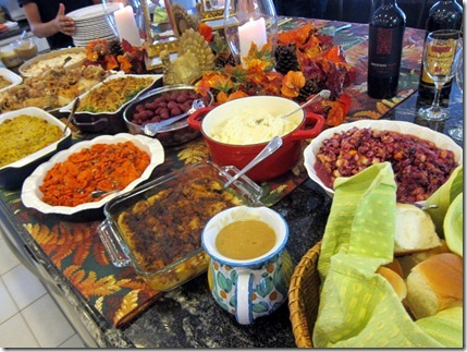 Thanksgiving Table Food
