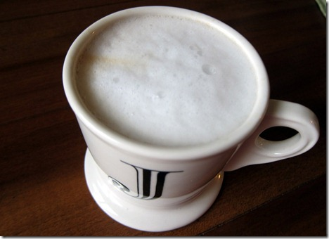 coffee with homemade foam