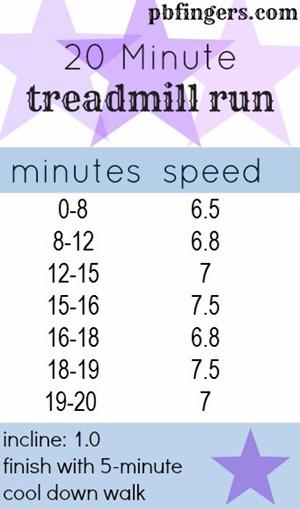 20 Minute Treadmill Run Workout