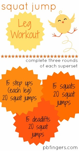 Squat Jump Leg Workout