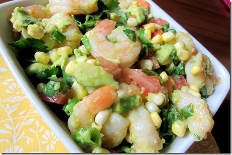 Avocado Shrimp Cilantro Salad