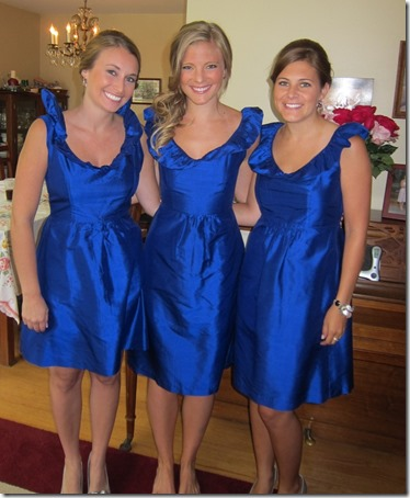 Bridesmaids Cobalt Blue Dresses