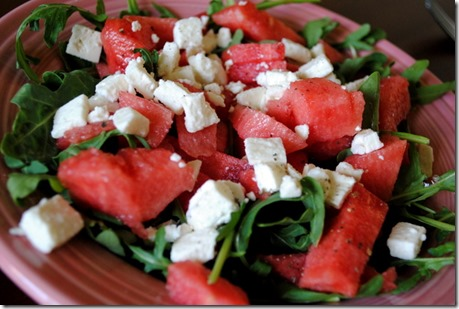 watermelon feta arugula salad