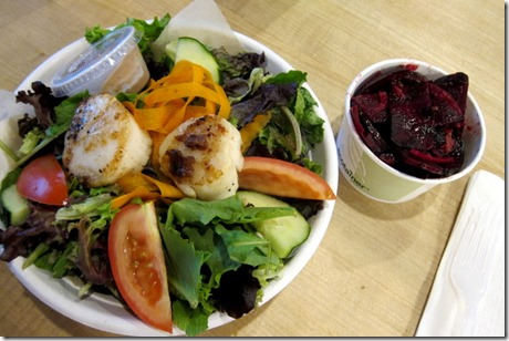 grilled scallops salad and beets