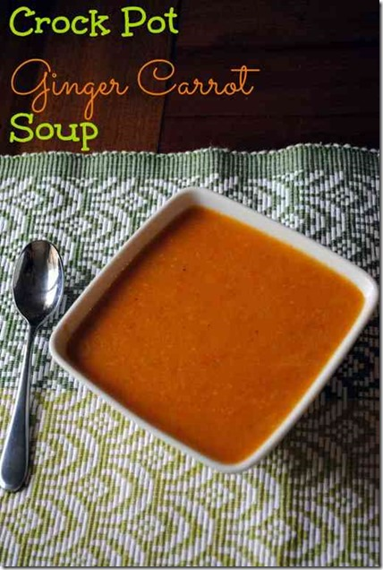 Crock Pot Carrot Ginger Soup