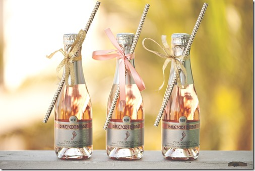 Mini Champagne Bottles for the Bridal Suite