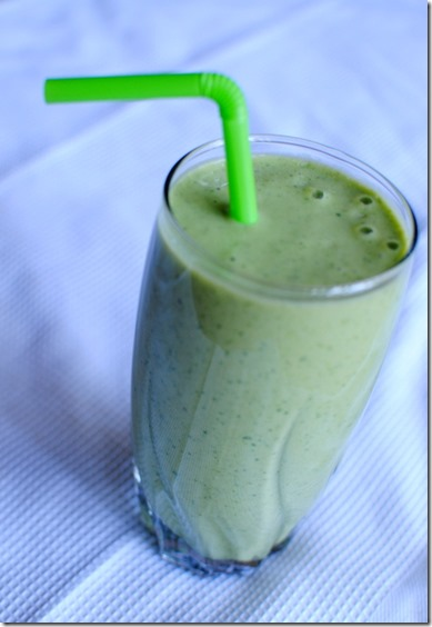 Banana Spinach Avocado Smoothie
