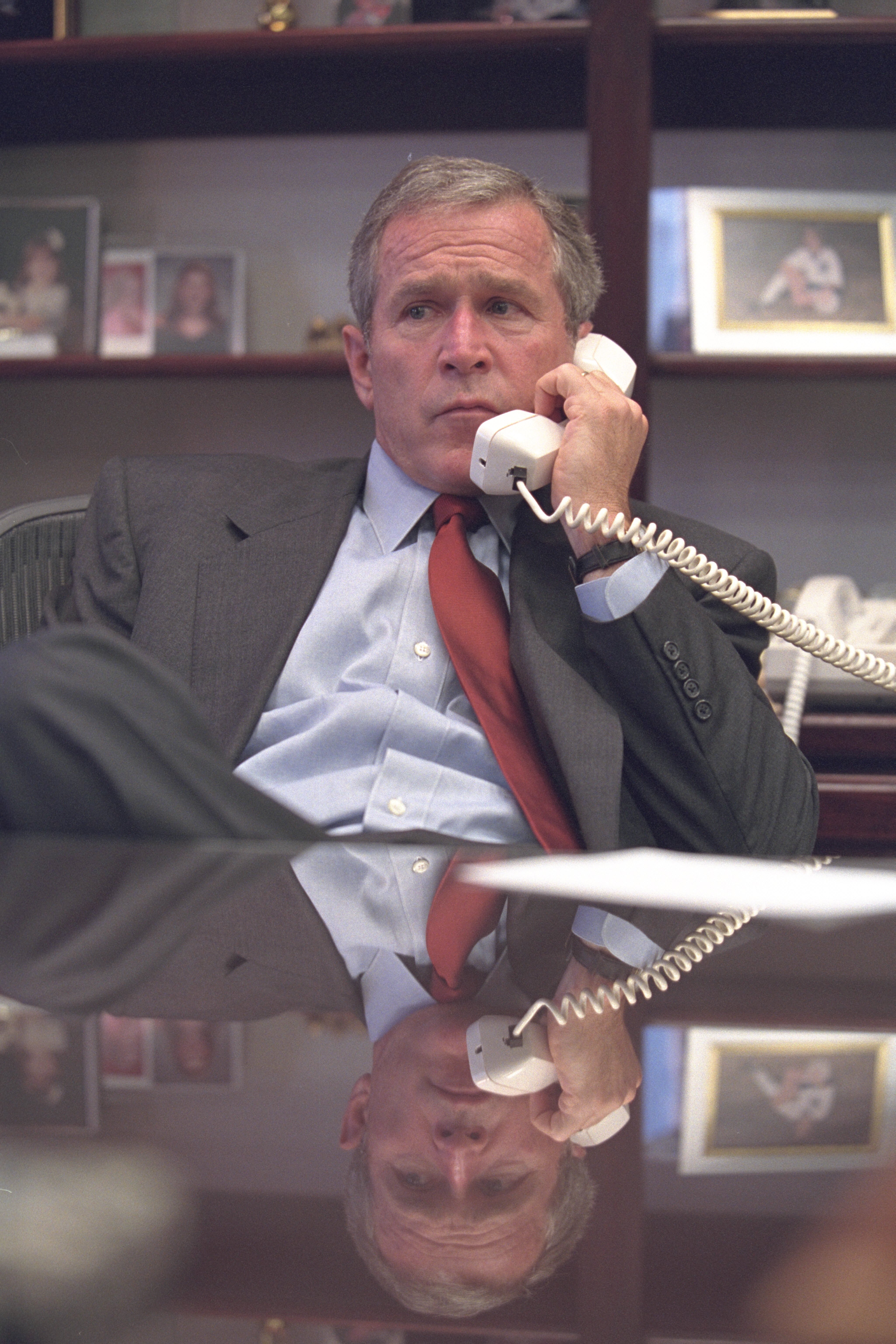 Do you think one day George Bush may be charged for crimes against humanity?