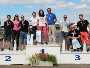 Le podium du Championnat de France 2015 en Voltige Handisport