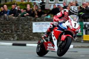Isle of Man TT 2015. 7th June 2015. John McGuinness Honda / Honda/Jackson Racing