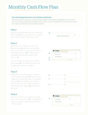 Monthly Cash - Fill Online, Printable, Fillable, Blank   PDFfiller