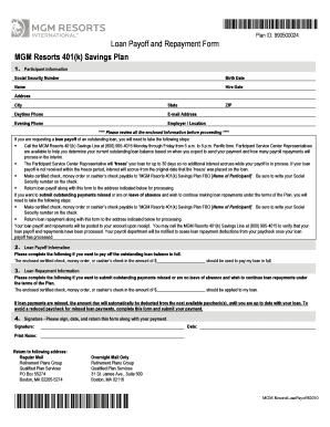 Mgm Resorts 401k - Fill Online, Printable, Fillable, Blank | PDFfiller
