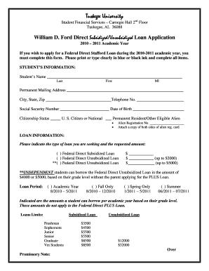 Parent Plus Loan Application Tuskegee University - Fill Online, Printable, Fillable, Blank ...
