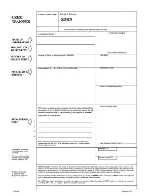 Crest Form - Fill Online, Printable, Fillable, Blank | PDFfiller