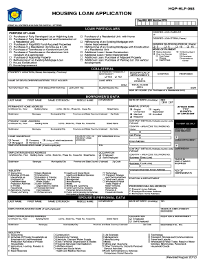 Pagibig Housing Loan Application Form Hqp Hlf 068 - Fill Online, Printable, Fillable, Blank ...