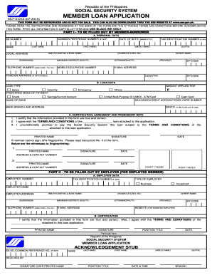 Sss Loan Application Form - Fill Online, Printable, Fillable, Blank | PDFfiller