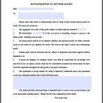 Return Goods Authorization Form Template