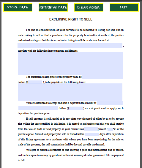 Real Estate Purchase Offer Form | Free Fillable PDF Forms