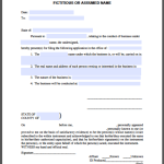 Conduct of Business Certificate Template (Under Fictitious or Assumed Name)