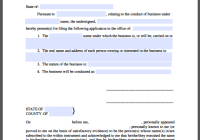 Conduct of Business Certificate Template