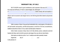 Warranty Bill-of-Sale Form
