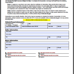 Washington Vehicle Bill of Sale Form