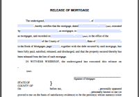 Release of Mortgage Certificate Individual