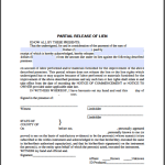 Release of mortgage certificate by a corporation free for Partial lien waiver template