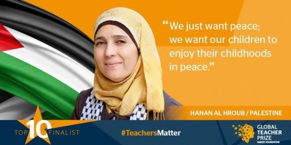 Palestinian Peace Teacher Announced One of Top Ten in the World