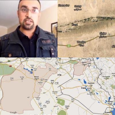 Noaf (top left) is from Sinjar (top right), Ninewah Province (bottom left), Iraq (bottom right).