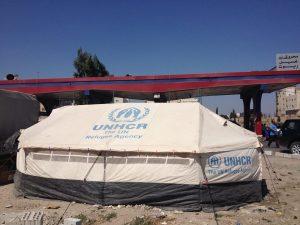A UNHCR Syrian Refugee tent in Irbid. PC: Eddie Grove