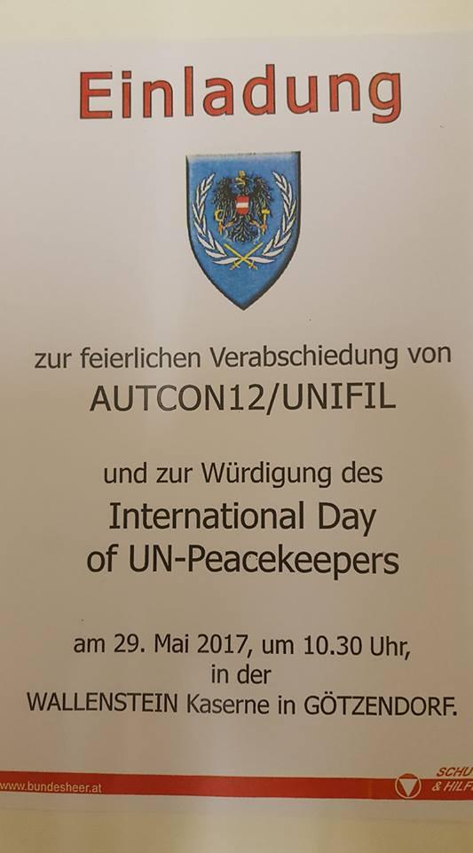 Einladung Tag der Peacekeeper