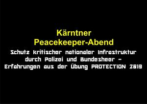 Kärtner Peacekeeper-Abend @ Lavanthaus/Embassy-Lounge | Wolfsberg | Kärnten | Österreich