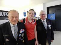 Gr F. Köfel, OLympiajudokerin Bernadette Graf, Vzlt Ch. Trobos