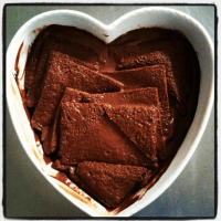 Nothing says love like a delicious chocolate pudding! (photo by Ashley)