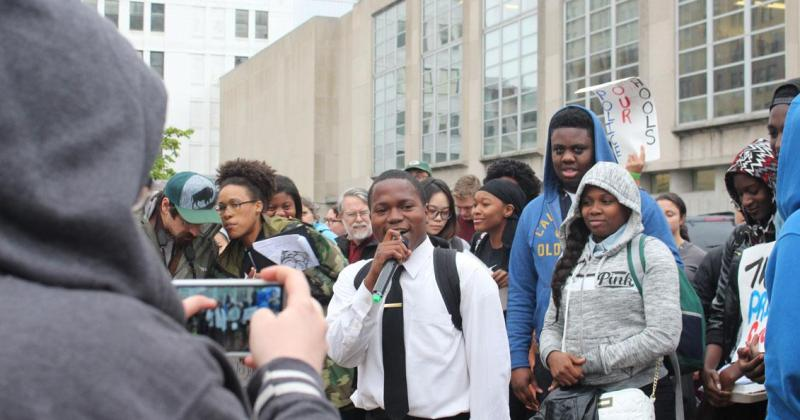 School community gathers to condemn violence against student