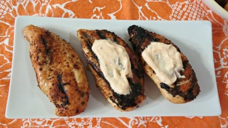Grilled Chipotle Chicken with Chipotle Cream Sauce