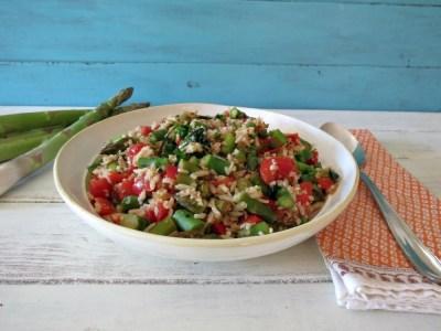 Asparagus and Basamti Rice