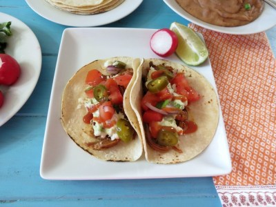 Slow Cooked Carne Asada Tacos