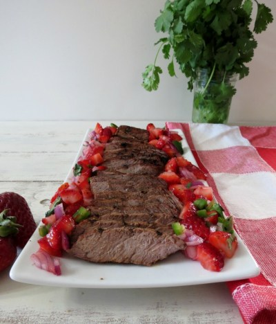 Grilled Top Sirloin with Strawberry Salsa 004a