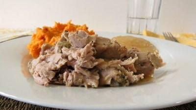 Pork Tenderloin with Apple & Mustard Sauce - Crockpot 059a