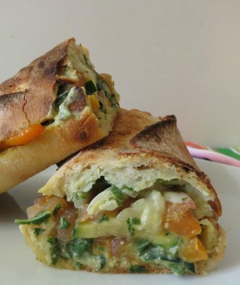 Lemon Pesto Zucchini Hot Sandwich