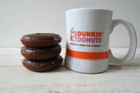 Chocolate Cherry Glazed Donuts